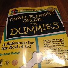 Travel Planning Online for Dummies by Noah Vadnai (1998, Paperback) Has CD