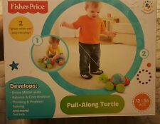 "Fisher-Price Pull-Along Turtle 2 ""grow with me"" ways to play - Ages 12-36 months"