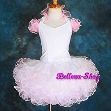 CupCake Halter National Pageant Dresses Up  Shell DIY Party Pink Size 4-5T PT002