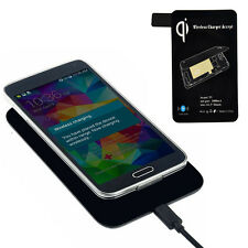Qi Wireless Charger + Receiver Tag For Samsung Galaxy S5 i9600 G900 Newest T87S