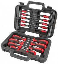 Heavy Duty 58pc Cacciavite Bit di precisione Intagliato TORX PHILLIPS Tool Kit Set