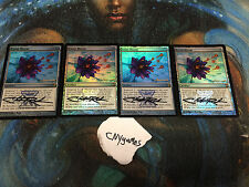 4 Foil Promo signed Lotus Bloom Chris christopher Rush mtg magic CNY