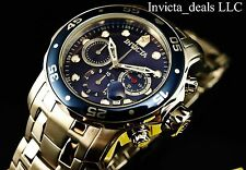 Invicta Men's 48mm Scuba Pro Diver Swiss Chronograph Blue Dial Silver Tone Watch