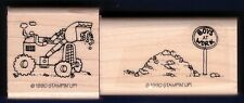 HEAVY EQUIPMENT BULLDOZER Boys at Work toy Fun Card STAMPIN' UP! RUBBER STAMP