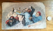 Dessin DRAWING SOLDIER WAR 1870 BARRICADE COLOR Esquisse Croquis Guerre Soldat