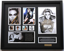 New Beyonce Signed Limited Edition Memorabilia Framed