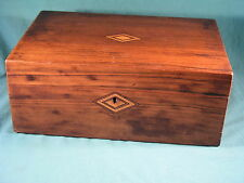 Antique Wood Writing Slope with Inlay - to restore