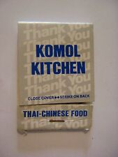 Matches Matchbook ~*~ KOMOL Kitchen ~ Las Vegas, NEVADA ~ See 100s More in STORE