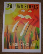 ROLLING STONES concert poster print ROSKILDE 7-3-14 2014 Lithograph ON FIRE