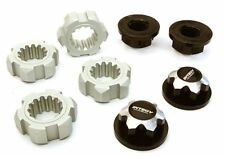 Integy Billet 24mm Hex Wheel Adapters & 17mm Wheel Nuts for Traxxas X-Maxx Black