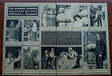 Article Cyclisme 1954,Ockers,Bartali,Coppi,Robic ,Kubler,photos , clipping