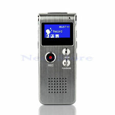 8GB Steel Voice Audio Sound Recorder Dictaphone MP3 Player 1160 Hours Recording