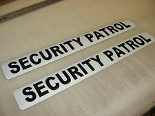 "2 SECURITY PATROL Magnetic Signs 3""x24"" Police Constable 1 Pair 4 Car Truck SUV"
