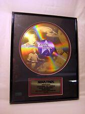 Captain Kirk Framed 24K Gold Plated Laser Disc Plaque Ltd Ed 162/2500 w/COA