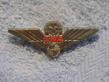TWA Trans World Airlines  Flight Attendant Junior Pilot Plastic Wings Pin NEW!!