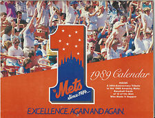 1989 NY Mets Calendar Excellence. Again & Again. 20th Anniv Tribute 1969 Mets