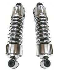 "Ultima Shorty Chrome Lowering Lowered Shocks Absorbers 11"" Inch Harley Big Twin"