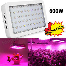 New Double Chips 600W LED Grow Light For Hydroponics Medical Plants Veg Fruits