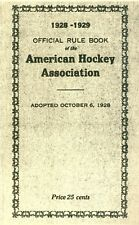 1928-29 Official Rule Book of the American Hockey Association AHA Reproduction
