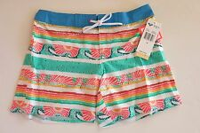 NWT Roxy 10 Girl's  Board Shorts Waterfall Palm Hawaii Beach Surf Waves