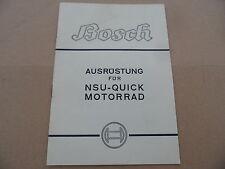 NSU Quick 98ccm 98er Bosch Ausrüstung Prospekt