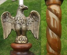 EAGLE table lamp SOLID BRASS WOOD FEDERAL STYLE vintage mid century