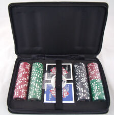 152 Piece Poker Chip Set w/ Travel Case 2 Decks of Cards by Full Tilt New Sealed