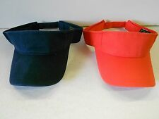 Lot 2 NOS Vtg '90's Cobra Cap Visors One Size Most ADJ Orange & Navy Blue