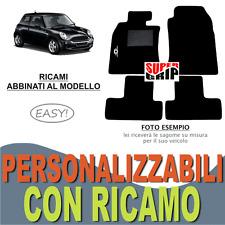 TAPPETI AUTO SU MISURA PER MINI COOPER ONE R50 R52 R53 IN MOQUETTE + RICAMO EASY