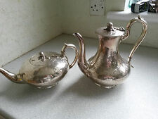 LOVELY ANTIQUE  SILVER PLATED TEAPOT AND COFFEE POT SET - ELKINGTON PLATE