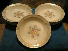 Vintage China Taylor Smith Taylor Diana Gold Bouquet Soup Bowl c 1940's 3 Left