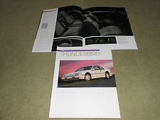 1993 FORD THUNDERBIRD LX & SUPER COUPE, LARGE 16-Page BROCHURE, SALES CATALOG:
