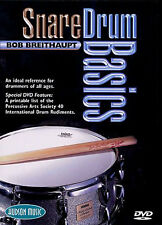 Learn To Play Snare Drum Basics Lesson Tutor DVD Drums