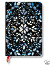 "Paperblanks Journal Writing Book Black Silver Mirror Vine Mini Size 3""x5"" NWT"
