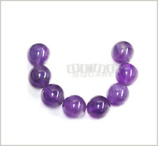 8 Natural Amethyst Round Beads 14mm #15015