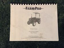 A New Parts Manual For A FarmPro 304 4WD Tractor with TY3951 Diesel Engine
