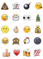 20 Nail Decals EMOJI / EMOTICONS * MOST POPULAR*  Water Slide Nail Art Decals
