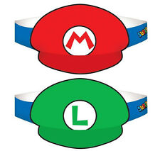 Super Mario Brothers Mario & Luigi Party Hats-Birthday Decoration Favor Supplies