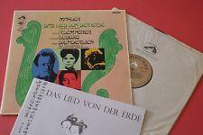 SAN 179 Mahler Das Lied Von Der Erde Klemperer Ludwig Angel Series ED1 STEREO LP