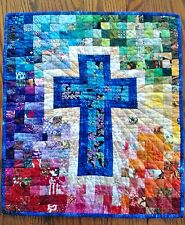 RAINBOW CROSS QUILT QUILTING PATTERN, From Cut Loose Press Patterns NEW