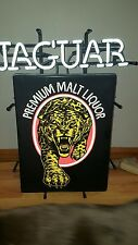 VTG 1990s JAGUAR MALT LIQUOR BEER CAT NEON LIGHT UP SIGN ANHEUSER BUSH BUD RARE