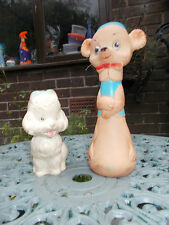 2 Vintage Squeaky Combex Chiltern Toys 1960's/50's