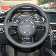 New Anti Slip Black Leather Steering Wheel Stitch on Wrap Cover For Audi A1