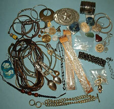 Junk Drawer Lot, Vintage Collectibles &Jewelry, Texas Buckle, Coins, SP Spoons
