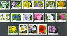 Guernsey Wildflowers complete set mnh(17 values)