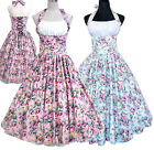 Vintage Retro Dancing Swing Rockabilly Party Jive Skirts Dresses 50s 60s Floral