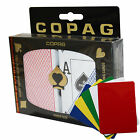 COPAG Plastic Playing Cards Poker Size Dual Index Peek Red Blue Free Gift