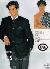 Publicité Advertising 1996 Vetements Costume Homme C&A