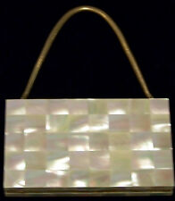 Vintage Mother of Pearl Combo Purse/Vanity/Compact/Cigarette Holder Case