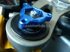 FORK PRE LOAD ADJUSTERS BLUE 22MM RVF750 RC45 NC35 VTR1000 SP1 SP2 RC51 R1F8